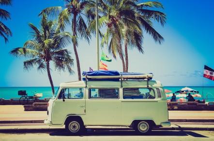 VW Bus am Strand